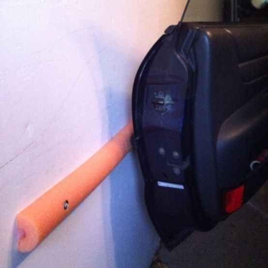 pool noodle can be a bumper in your garage hack