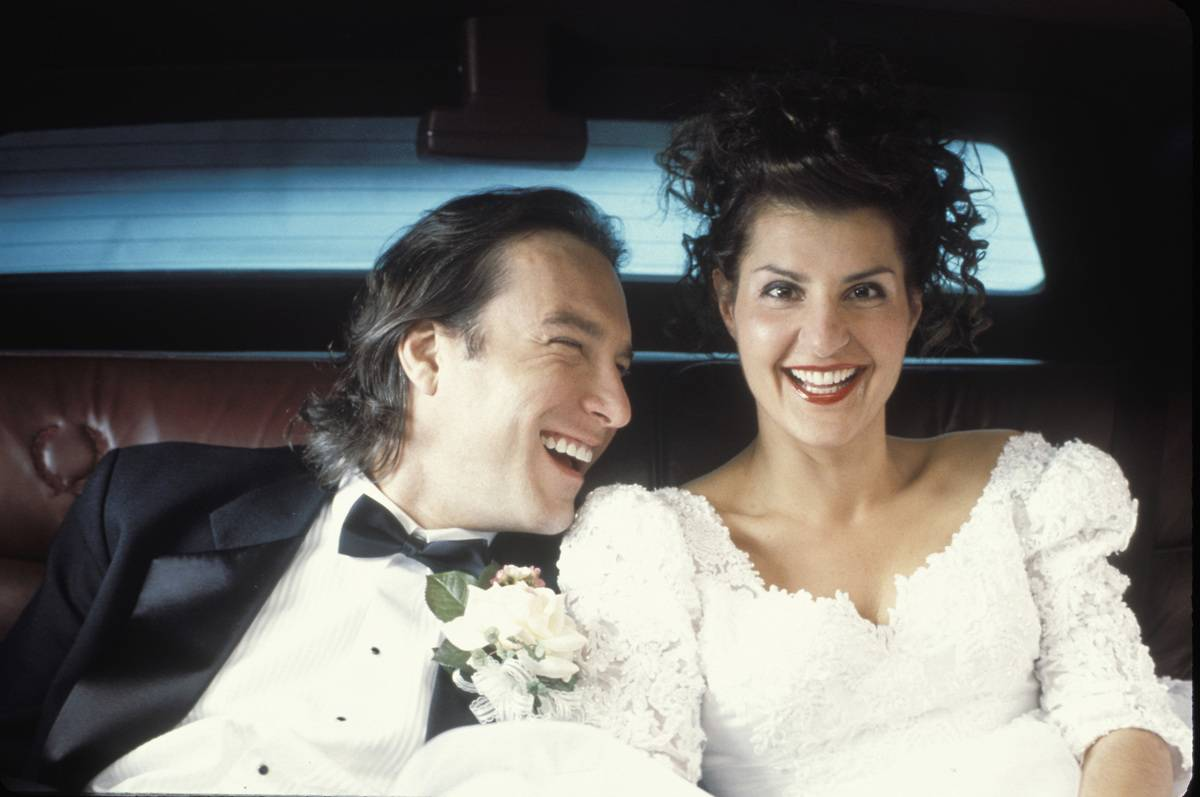 actors in wedding attire in my big fat greek wedding