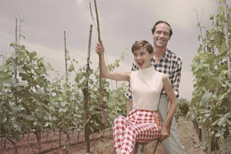 Picture of Audrey Hepburn and Mel Ferrer