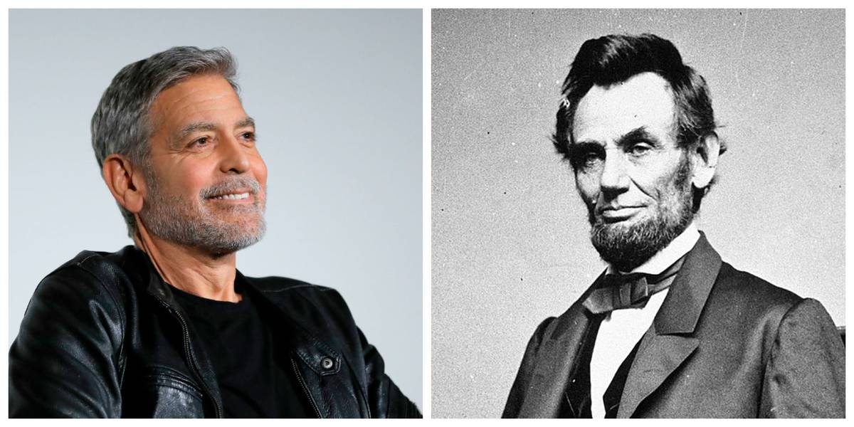 Picture of Clooney and Lincoln