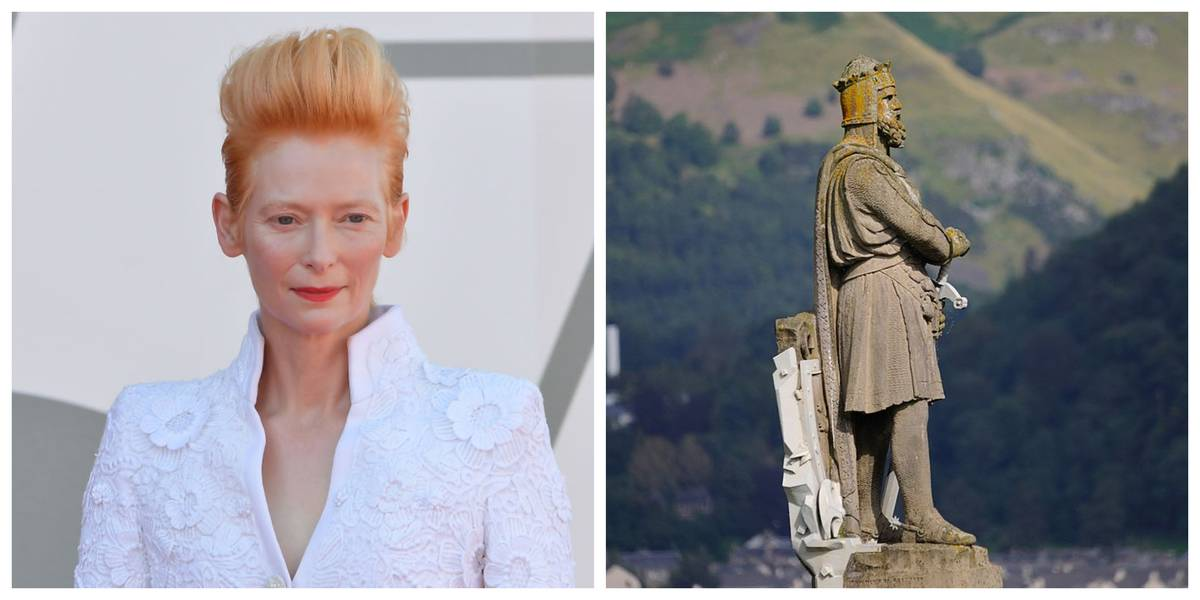 Tilda Swinton and Robert the Bruce