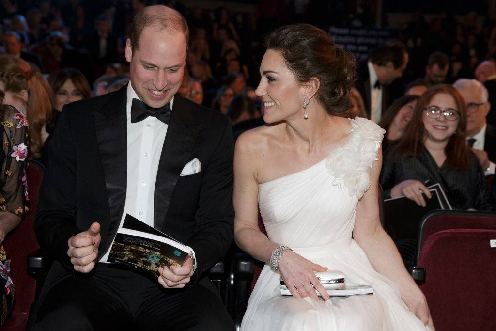 Prince William and Kate at an awards show in February 2019