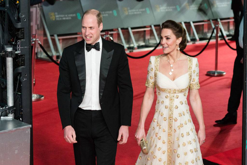Prince William and Kate arriving at the 2020 BAFTAs