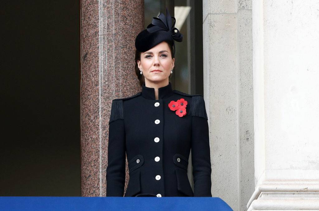 Kate attending a remembrance service in November 2020
