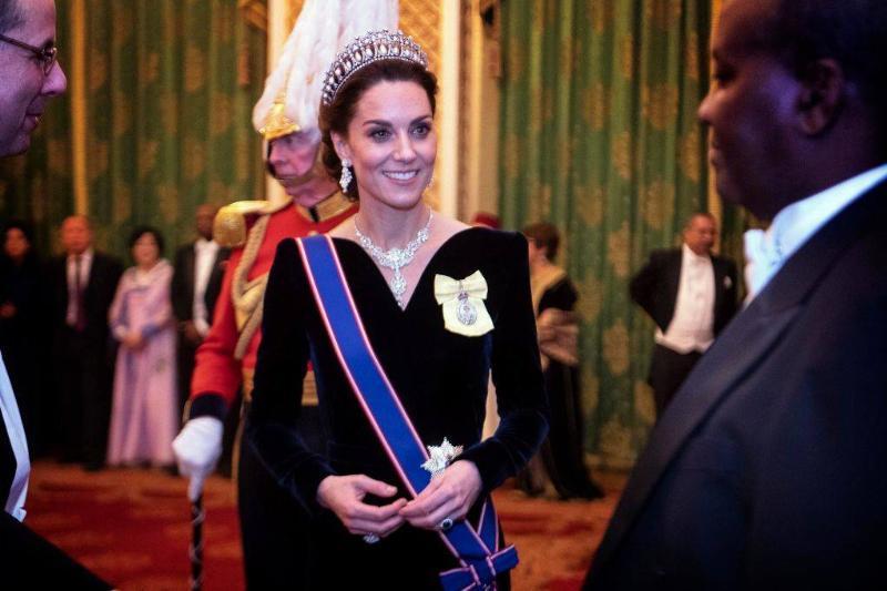 Kate at Buckingham Palace in December 2019