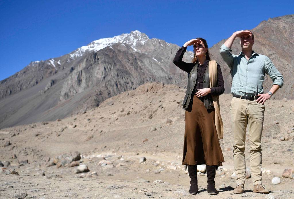 Prince William and Kate at a glacier in Pakistan