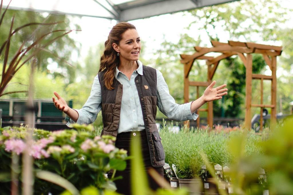 Kate in a garden in June 2020