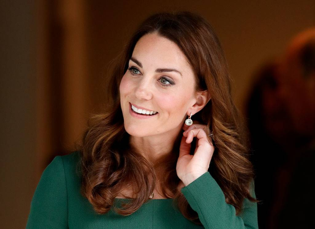 Kate wearing a green dress in May 2019 in London