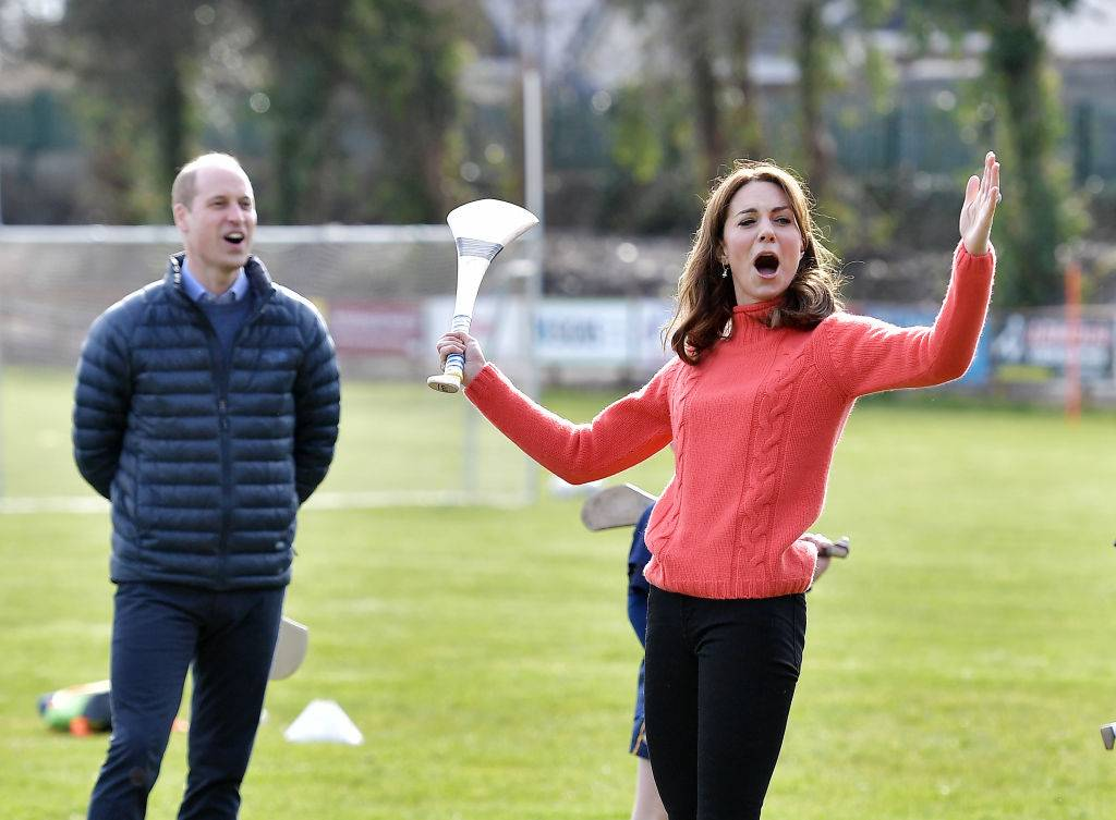 Kate and Prince William playing sports in Ireland in March 2020