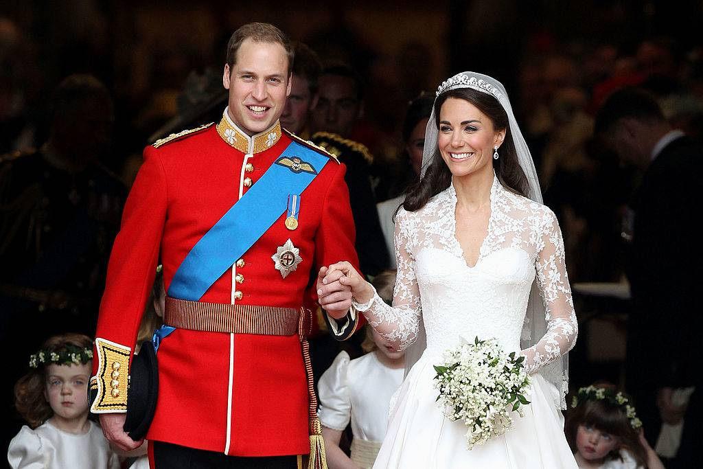 Prince William and Kate on their wedding day
