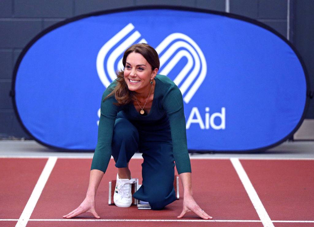Kate at the start of a track in February 2020