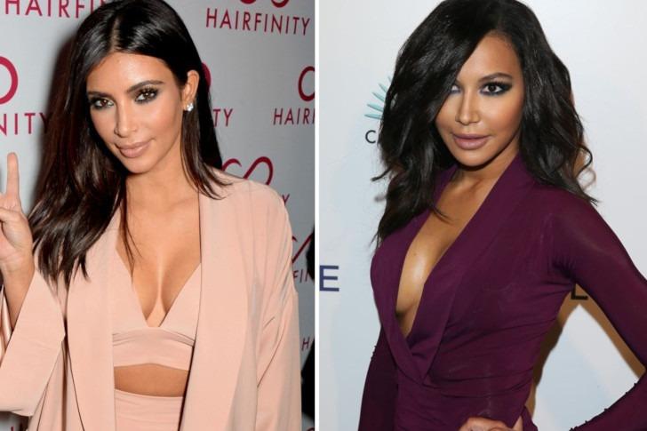 Kim Kardashian and Maya Rivera